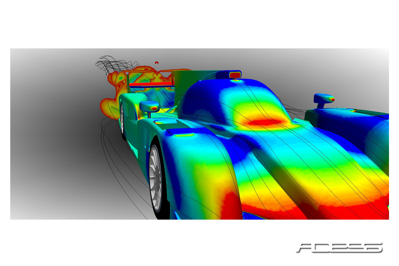 Static pressure distribution and wake behind a Le Mans Prototype