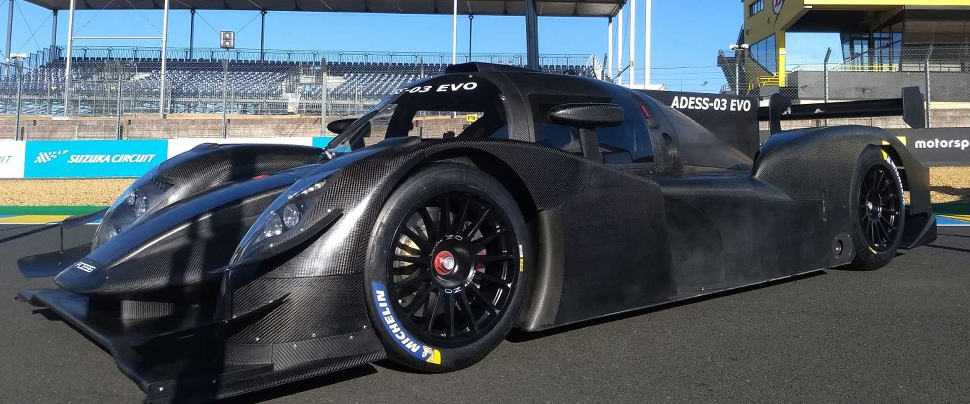 ADESS AG presents the ADESS-03 EVO LMP3 sports car  Motorsport Engineering | Race Car Manufacturer ADESS chassis partner of the LMPH2G: Mission H24 ADESS chassis partner of  Pininfarina H2 Speed powered by GreenGT